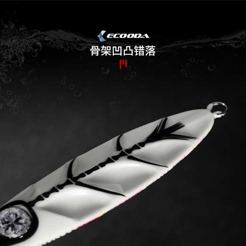 Lê-Cá Ecooda 80G 120G 150G 200G 260G Kim Loại Chì Jig Dụ Biển Sâu phát Sáng Kim Cương Mắt Nhân Tạo Mồi Câu Cá