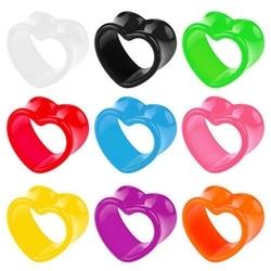 4-12mm 2Pcs Heart-Shape Acrylic Ear Plugs Tunnels Earlets Piercing Ear Stretchers Expander Gauges Earrings Piercing Body Jewelry