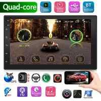 SWM 9218 doble 2 DIN Quad Core Android Car Stereo 7 gps bluetooth de pulgada WiFi USB unidad frontal de radio velocidad de conducción de la pantalla