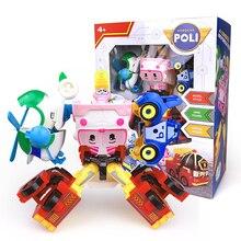 New Robocar Poli Korea car kids 4 in 1Transformation Anime Action Figure Robot Toys Best Gifts For Children Playmobil