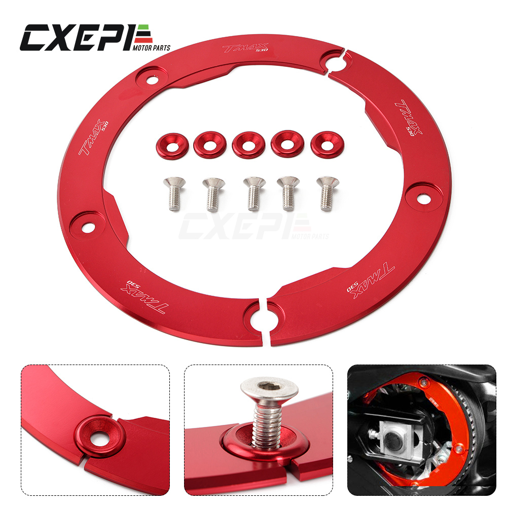 Motorbike accessories For Yamaha <font><b>T</b></font>-<font><b>max</b></font> <font><b>530</b></font> tmax <font><b>530</b></font> 2012 2013 2014 <font><b>2015</b></font> 2016 motorcycle Transmission Belt Pulley guard Cover image