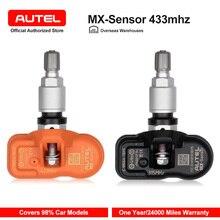 Autel mx sensor 315mhz 433mhz sensor de pressão dos pneus programável para a pressão dos pneus universal sensor tpms mx sensor clone aprender