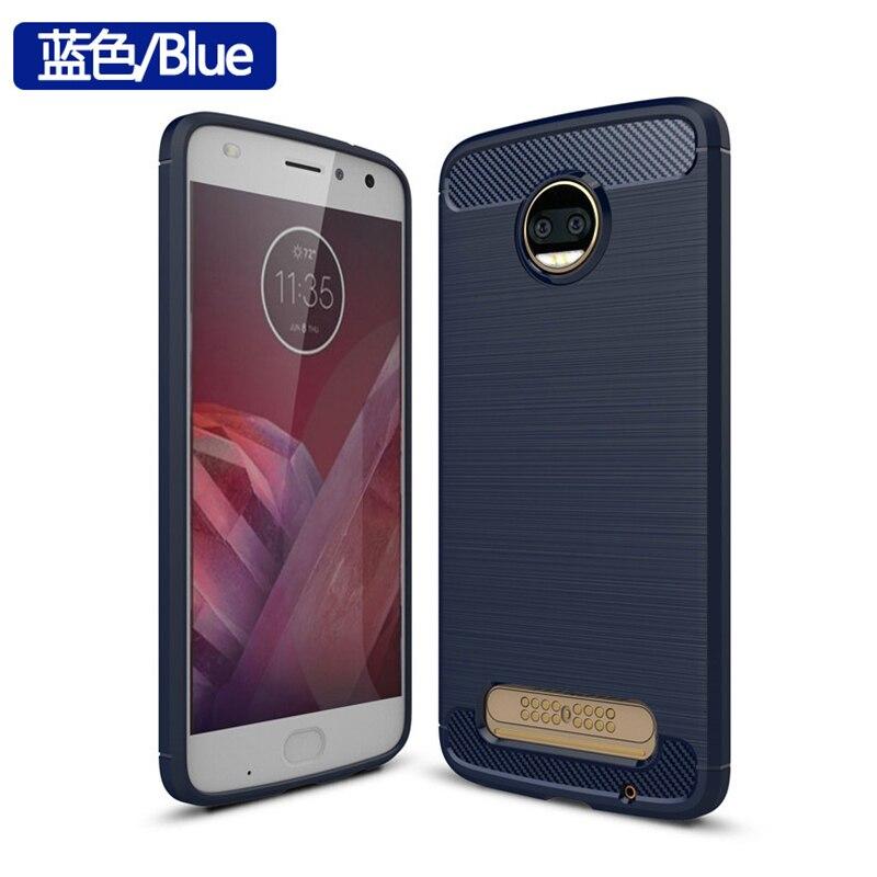 Carbon Fiber Case For Motorola Moto G7 E5 Plus Cover Case For Moto Z2 Force Z3 Z4 Play Case Silicone Soft TPU Texture Case