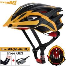 Cycabel ultraleve das mulheres dos homens de corrida de ciclismo capacete integralmente moldado mtb capacetes de bicicleta esportes mountain bike estrada capacete