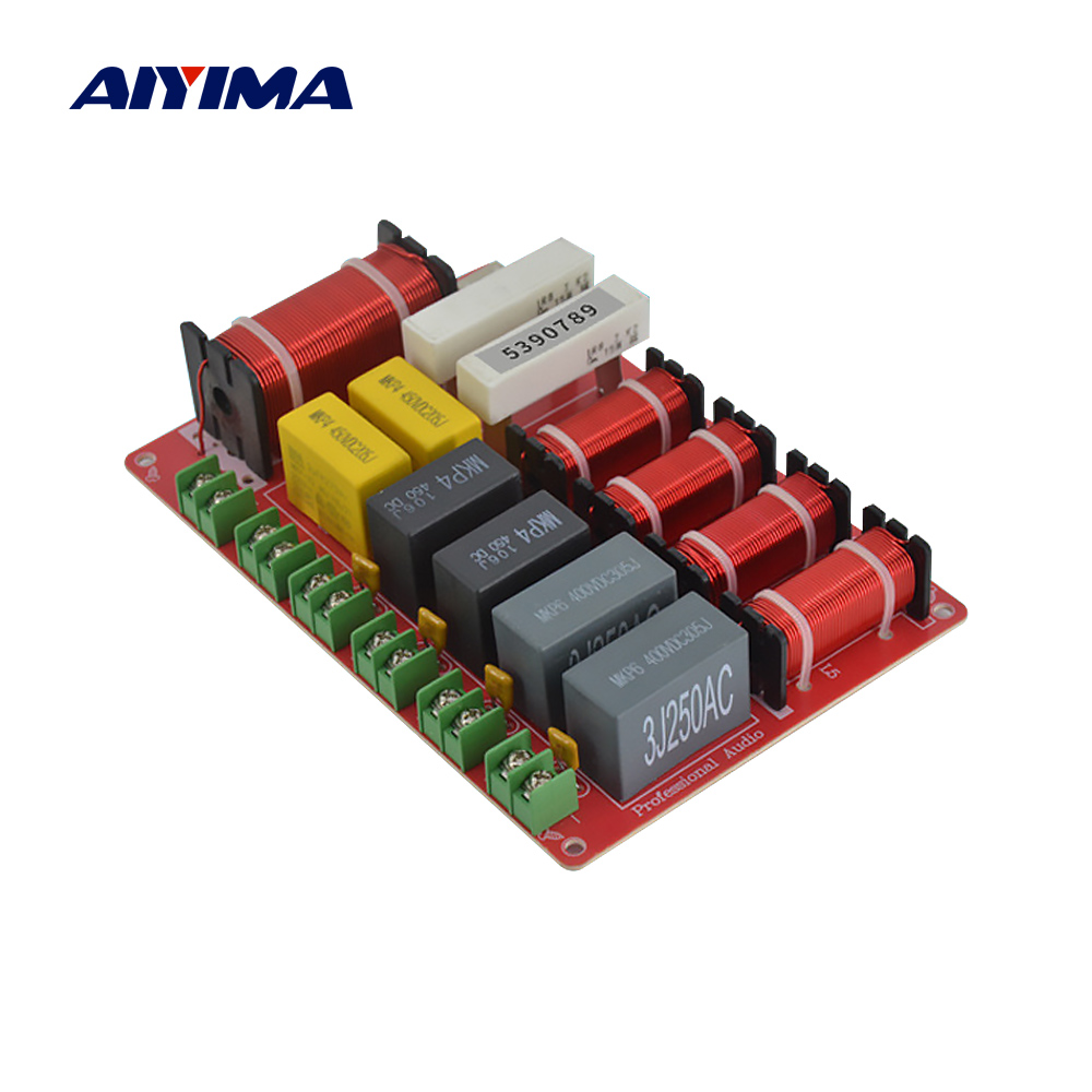 AIYIMA 300W 5 Way Crossover Two Treble + Dual Midrange + Woofer Speaker Crossover Audio Frequency Divider Filter DIY Stage