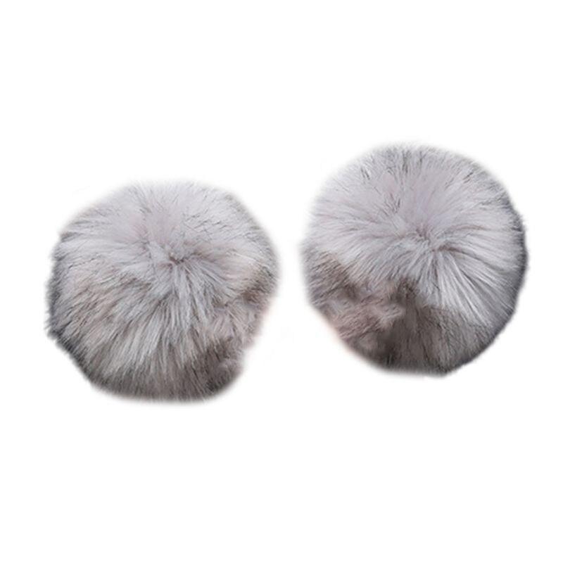 Oversized Faux Rabbit Fur Thicken Cuff Women Winter Warm Wrist Gloves Oversleeve LX9E