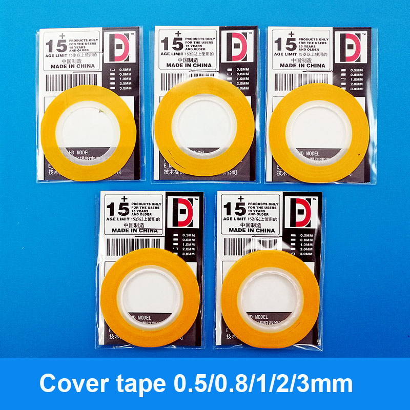 Model Paint Coloring Cover Very Fine Cover Tape  0.5/0.8/1/2/3mm