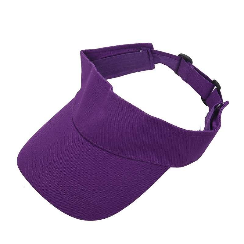 Men Women Sun Visor Cotton Sports Golf Tennis Headband Adjustable Cap Hat, Purple