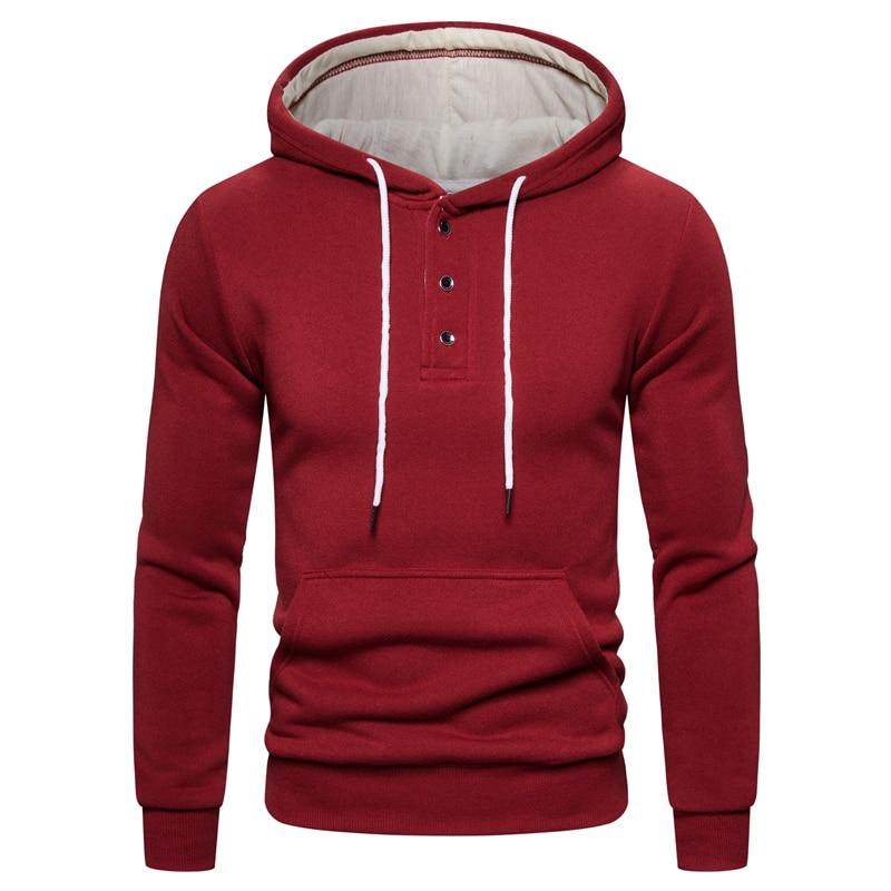 2019 New Autumn Winter Cotton Hoodied Mens Sweatshirts Solid Hoody Fleece Thick Hoodies Men Sportswear Zipper Sweatshirts Men 18