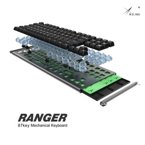 Image 3 - X Bows 87 Programmable CNC Case RGB Backlight Hotswap Hot Swap KB 6 Type C PCB Ranger MX Mechanical Keyboard Kit