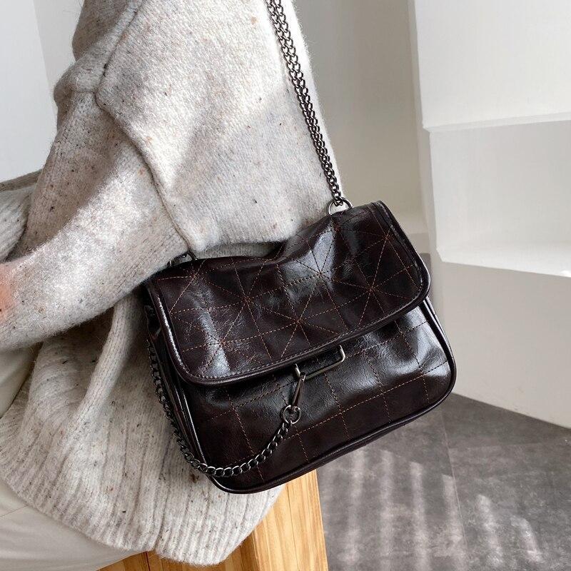Vintage High Capacity Tote Bag 2020 Fashion New High Quality PU Leather Women's Designer Handbag Chain Shoulder Messenger Bag