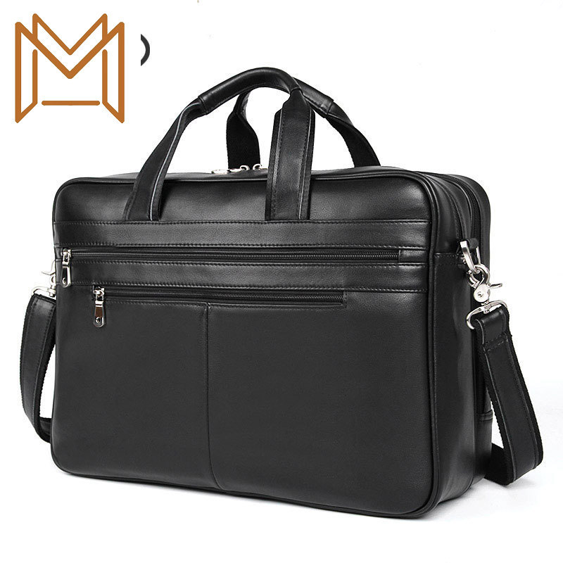 Business Affairs Man Genuine Leather Handbag Briefcase Texture Genuine Leather Male Package