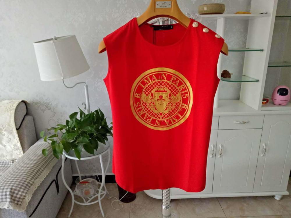 Classic fashion summer loose sleeveless T shirt top|T-Shirts| - AliExpress