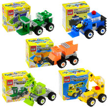 Enlighten Mini Transportation Assembled Models Blocks Car Building Compatible City truck Bricks playmobil Toys With Original Box(China)