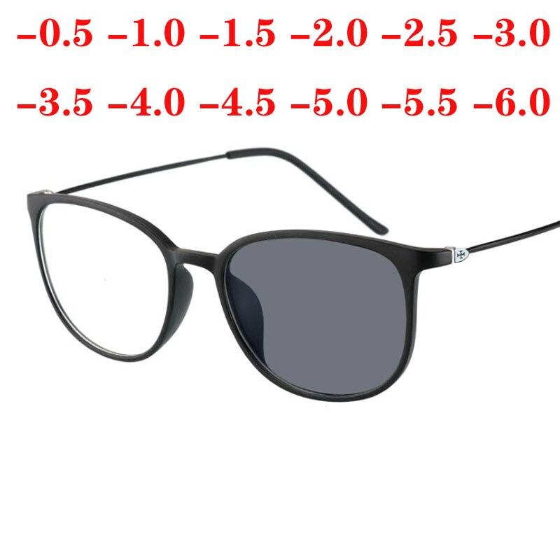 Óculos contra uv terminado óculos óptico, lente de miopia para mulheres e homens, fotocromático, oculo -0.5 -1.0 -2.0 a-6.0