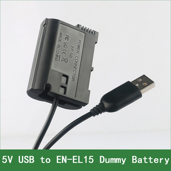 цена на EN-EL15 EN EL15 EL15A EP-5B Dummy Battery Adapter Plug DC Power Bank For Nikon D800 D780 D750 D610 D600 D500 D800E D810A 1 V1