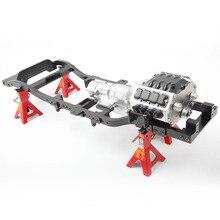 Crawler V8 RC Motore Gigante Motore Cambio a tre velocità Cambio Crawler di Simulazione Cambio Per RC Hobby FAI DA TE