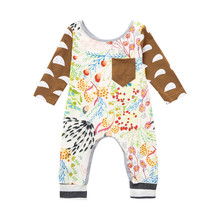 Get more info on the 2019 Fashion new born baby girl clothes set Baby Long Sleeve  Floral Romper Jumpsuit Outfits Clothes 9.5