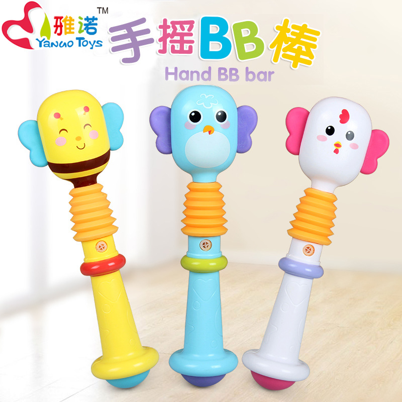 1 Random Delivery Newborn Baby 0-1 BB Stick Rattle Baby Teether 3-6-12 Months Educational Toys