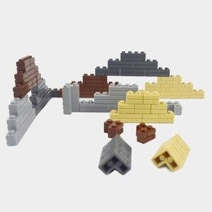 Image 3 - Bloques de construcción de arma militar, accesorios de ciudad, flor y arbusto verde, hierba, árbol, escalera, juguetes, Pilar, ciudad, pared, Compatible con todas las marcas