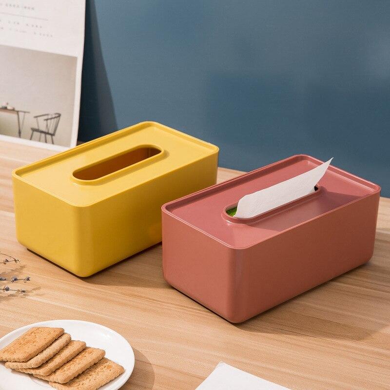 Desktop Tissue Detachable Corner Storage Box Desktop Drawer Simple Storage Box for Home Use @M23