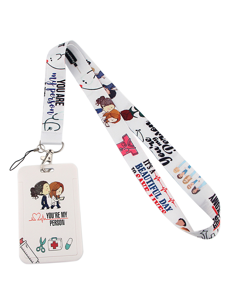 Lanyards Keychain-Holder Lariat Neck-Strap Gifts Doctor Grey's Anatomy Tv Show Nurse