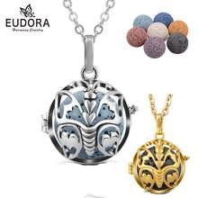 Eudora 20 мм медальон с бабочками кулон вулканический шарик