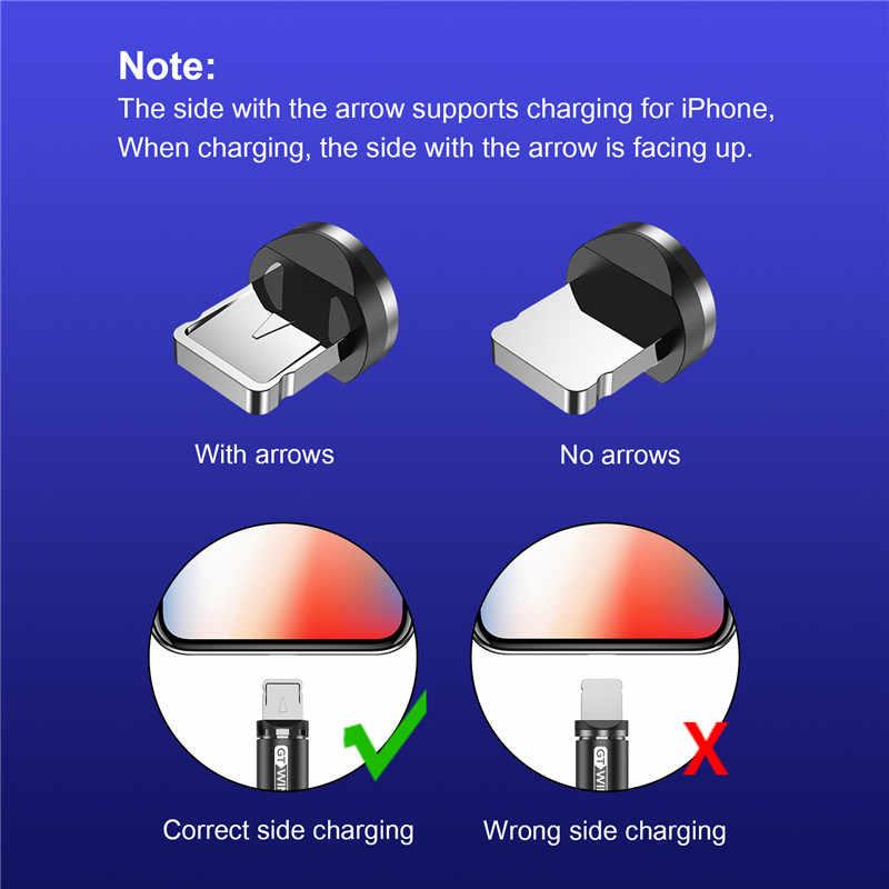 GTWIN 1m 2m 3m câble magnétique Micro usb Type C chargement rapide Microusb type-c Charge magnétique usb C pour iphone 11 X Xr câble usb
