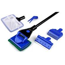 Aquarium Cleaner 5 In 1 Clean Set Fish Net Gravel Rake Algae Scraper Grass Fork Sponge Brush Glass Fish Tank Cleaner Tool