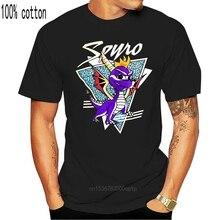 Heißen männer spaß casual druck Spyro Die Drachen entfesseln Retro Logo Schwarz T hemd 100% Baumwolle