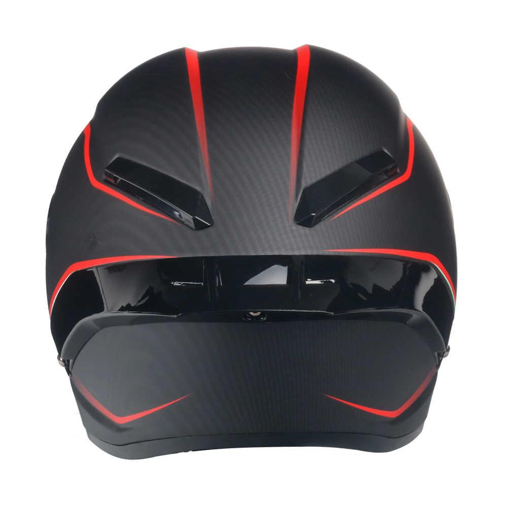 Карбоновая печать мотоциклетный шлем полное лицо точка Fmvss No.218certified Capacete Moto Cascos Para Moto Devil Horns Racing