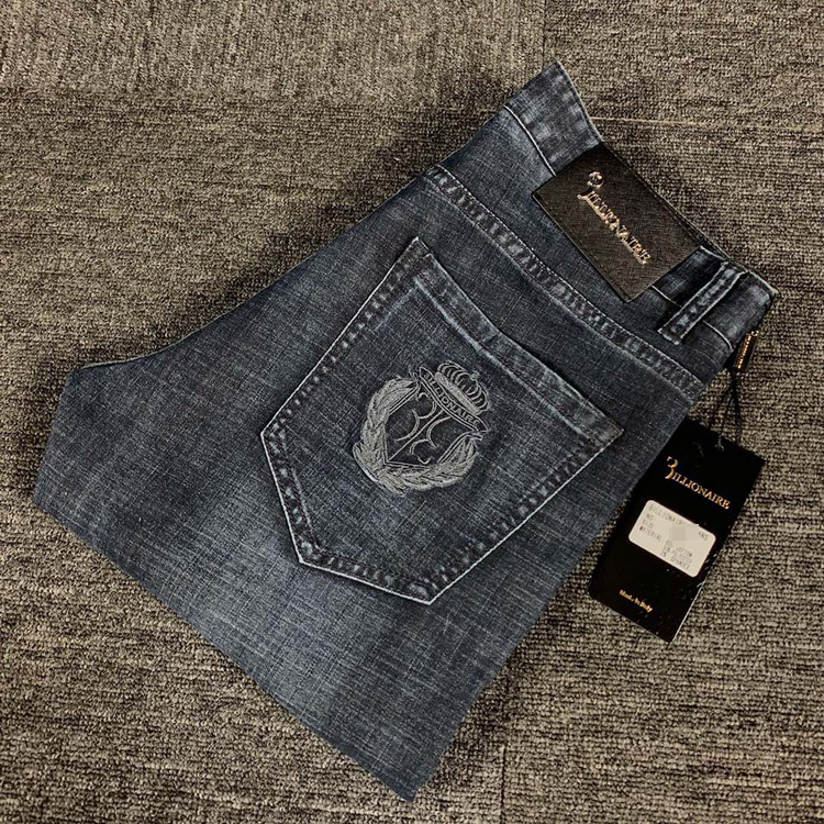 BILLIONAIRE Jeans Men 2020 New Summer Thin Cotton Elasticity Business Zipper British Casual Breathable Size 29-42 Free Shippng