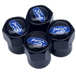 4 шт. колпачки на клапан для автомобильных колес, чехол на ствол для автомобиля Ford Fiesta EcoSport ESCORT focus 1 focus 3 focus 2 эмблемы, автомобильные аксессуар...
