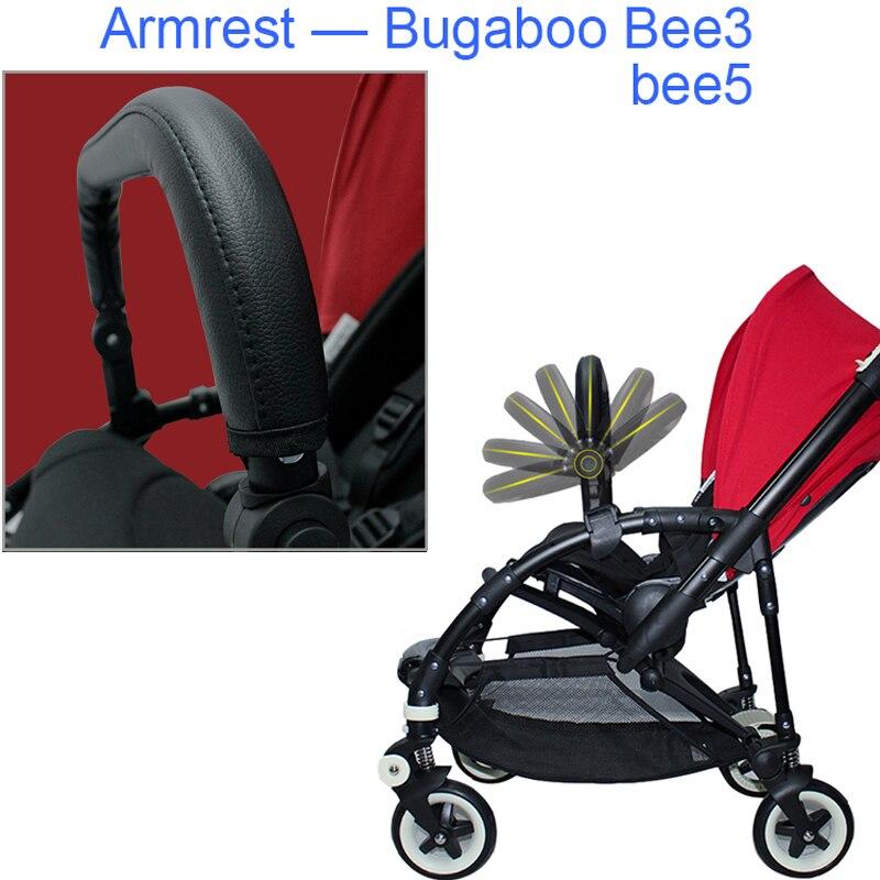 Bugaboo bee5 carrinho de bebê acessórios amortecedor couro handrest frente braço para bugaboo bee3 abelha 5 pushchair