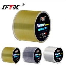 FTK 120m Linea di Pesca 0.2 millimetri-0.6mm 7.15LB-45LB Rivestimento Fluorocarbon Processo di Trattamento di Superficie di Carbonio di Nylon le molecole di