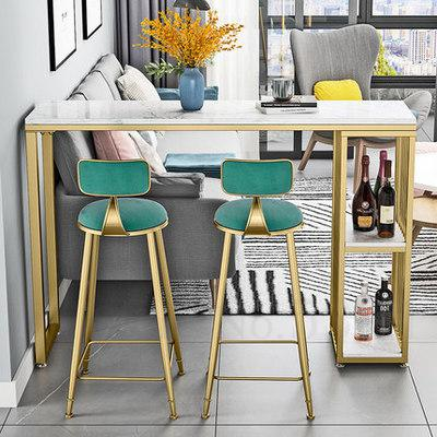 Nordic Marble Bar Table Household Simple Kitchen Living Room Partition Bar Table High Foot Table And Chair Combination Wine Cabi