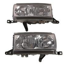 Подходит для Toyota Land cruiser LC80 FJ80 HDJ80 FZJ80 1991 1992 1993 1994, автомобильная фара, хрустальная лампа без лампочек, пара из 2