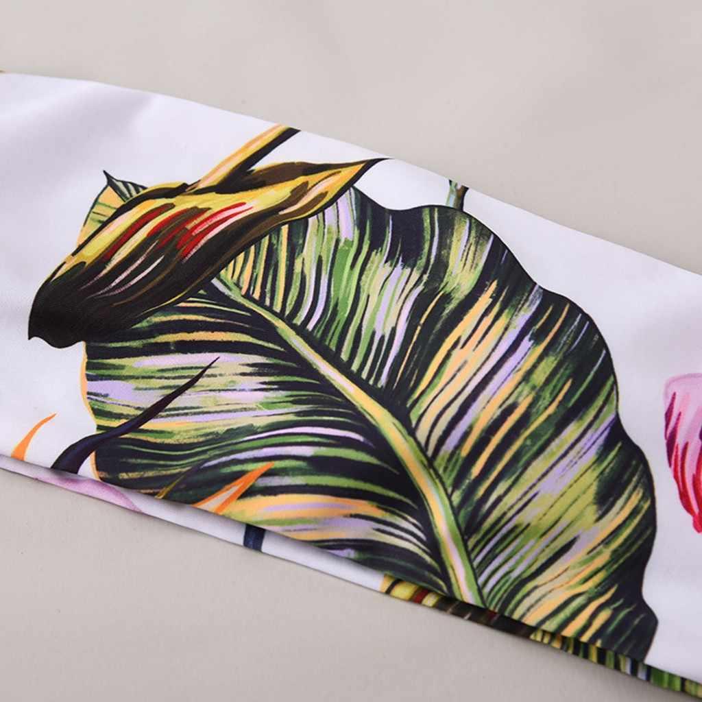 ملابس السباحة النسائية المطبوعة الأزهار العصابة رفع ملابس السباحة بيكيني مثير لباس سباحة البرازيلي Biquini الإناث ثوب السباحة الشاطئ 19dec