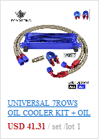 Kit cooler universal para óleo, kit com