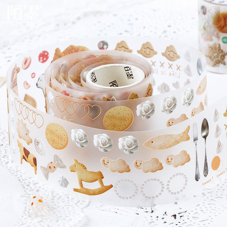 Transparent Forest Fairy Story Pet Washi Tape Diy Decorative Scrapbooking Sticker Planner Masking Adhesive Tape Label 50mm Wide