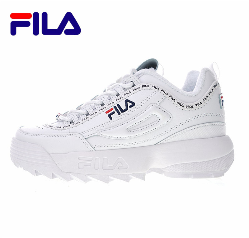FILA  Disruptor II  The 2 Generation Of Big Teeth, Thick Bottom, Increased Leg, Jogging Shoes FW0165-122  Size  Eur36-41