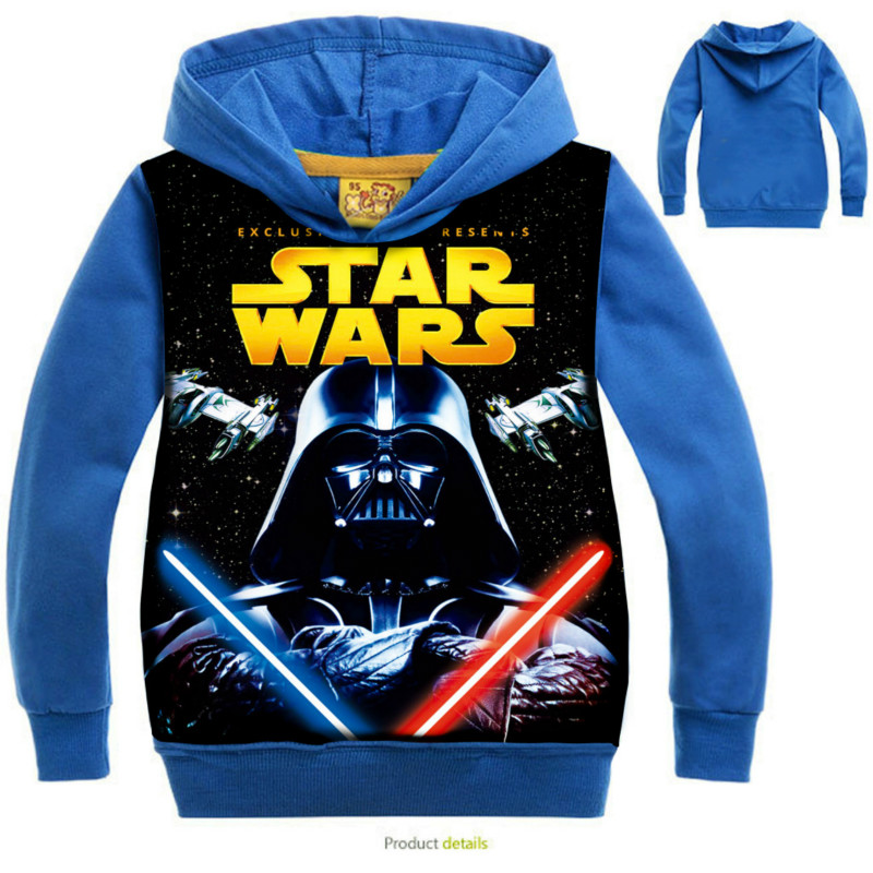 New 2019 STAR WARS Children Kids Boys T-Shirts With Hooded Boys Girls Baby Outerwear Clothing Spring Autumn Child Sweatshirts