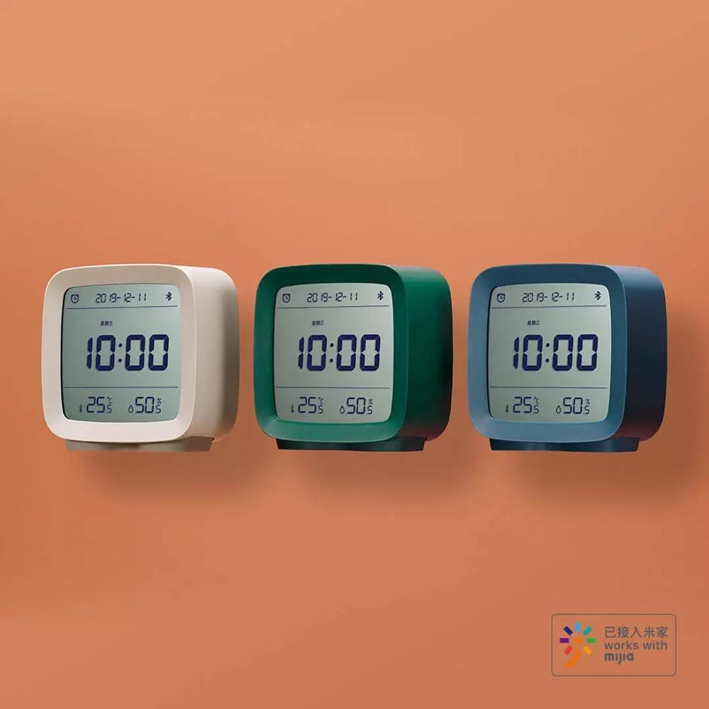 Image 5 - 在庫 Xiaomi 清平 Bluetooth 温度湿度センサー Mijia 夜の光 Lcd アラーム時計 Mihome アプリ制御温度計    グループ上の 家電製品 からの スマートリモコン の中