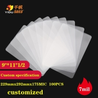 Laminating Film 9*111/2 7mil/175mic Laminator Pouch Sheets for Photo Paper Files Laminate Thermal 100pcs/set YIDU SAILS