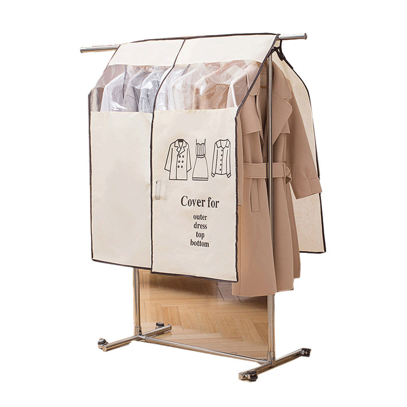 1 Pcs Non-woven Jacket Dust Cover Household Hanging Coat Clothing Cover Suit Storage Bag Closet Storage Bag