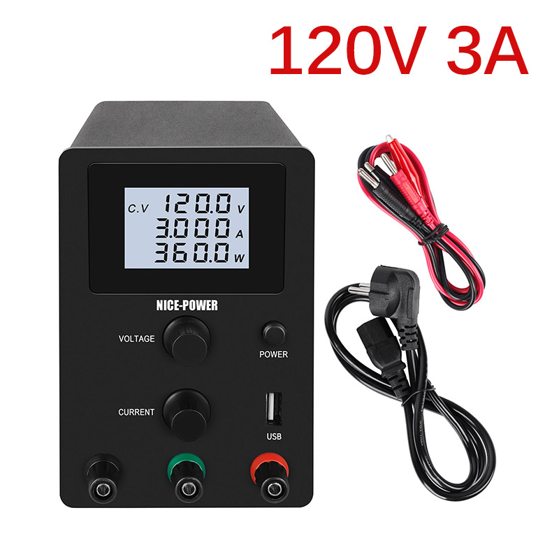 Черный DC импульсный лабораторный источник питания регулируемый lcd 4 цифры laboratory120V 3A 30V 10A 60V5A источник для телефона USB интерфейс 5V 2A|Импульсный источник питания|   | АлиЭкспресс