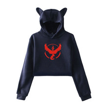 Women Pokemon Winter Casual Long Sleeve Hoody Teenager Girls Autumn Harajuku Streetwear Sweatshirt Female Fashion Short Hoodie(China)
