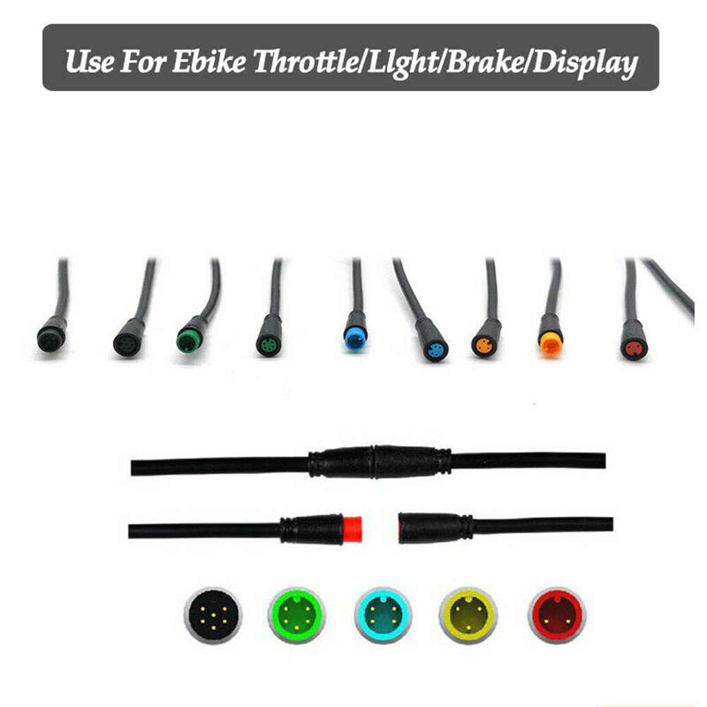 JULET Connector Cable Ebike Display Extension Cable Waterproof male to female