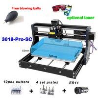 CNC 3018 PRO SC desktop engraving machine Pcb Milling Machine Diy mini cnc router engraving machine with GRBL mini engraver