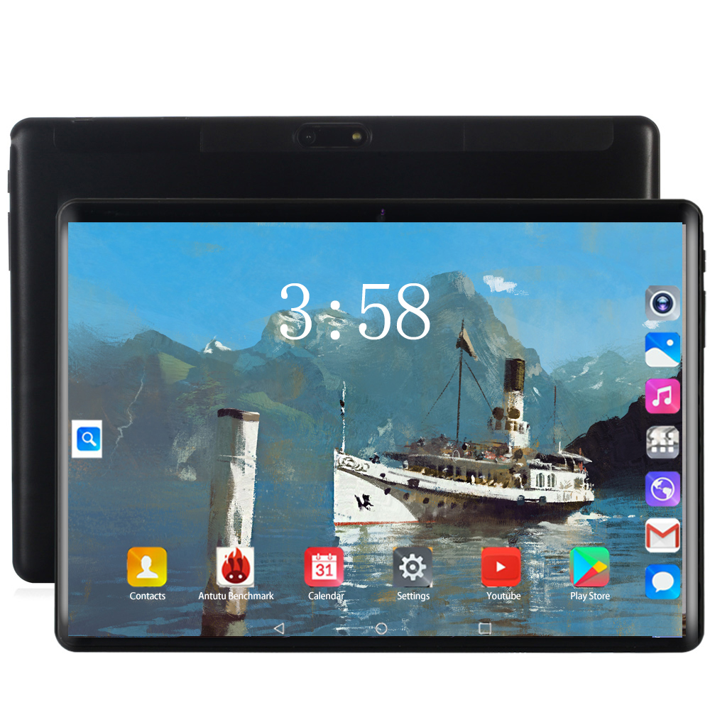 2020 Hot New 10 Inch Tablet Pc Octa Core 6GB RAM 128GB ROM 1280*800 IPS Dual SIM Card WIFI Android 8.0 OS Tablets PCS 10 10.1